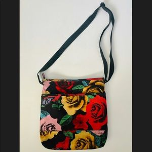 Like New Vera Bradley Havana Rose Crossbody Bag